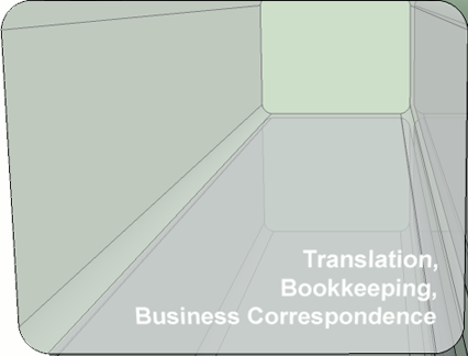 translation, bookeeping, business correspondence