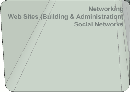 Networking (web sites building and administration, social networks)